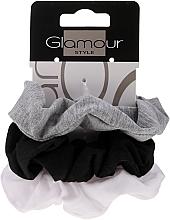 Kup Gumki do włosów 420, czarny + szary + biały - Glamour