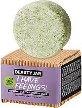 Kup Szampon w kostce do wrażliwej skóry głowy z olejkiem z jałowca i lawendy - Beauty Jar I Have Feelings