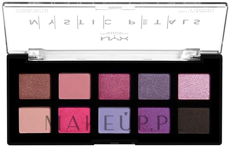 Paleta cieni i pigmentów do oczu i ciała - NYX Professional Makeup Mystic Petals Shadow Palette — фото 01 - Midnight Orchid