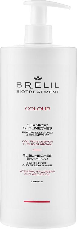 Szampon do neutralizacji żółtych tonów włosów blond i siwych - Brelil Bio Treatment Colour Sublimeches Shampoo For Blonde And Streaks Hair — фото N3