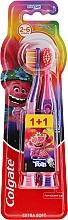 Kup Ekstra miękka szczoteczka do zębów dla dzieci 2-6 lat, fioletowo-różowa + różowo-fioletowa - Colgate Smiles Kids Extra Soft Toothbrush