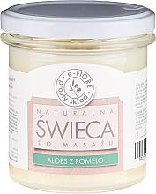 Kup PRZECENA! Naturalna świeca do masażu Aloes z pomelo - E-Fiore *