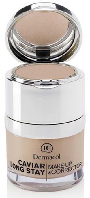 Trwały podkład z korektorem do twarzy - Dermacol Caviar Long Stay Make-Up & Corrector