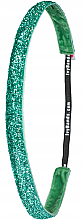 Kup Brokatowa opaska do włosów, zielona - IvyBands Tropical Green Glitter Hair Band