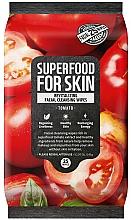 Kup Rewitalizujące chusteczki oczyszczające do twarzy Pomidor - Superfood For Skin Facial Cleansing Wipes