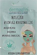 Kup Ujędrniająca maseczka do twarzy z zieloną glinką kambryjską - Dermaglin #Slow Age #Zatrzymaj czas