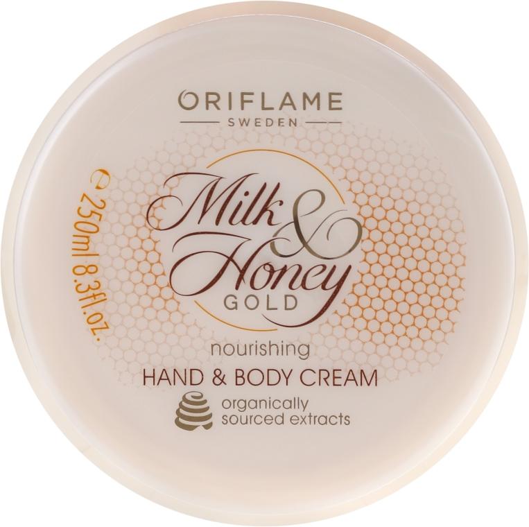 Odżywczy krem do rąk i ciała Mleko i miód - Oriflame Milk & Honey Gold Nourishing Hand And Body Cream