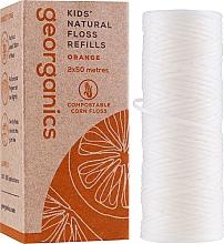 Kup Nić dentystyczna, 2x50 m - Georganics Natural Sweet Orange Dental Floss (wymienny wkład)