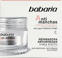Kup Intensywny krem do twarzy przeciw przebarwieniom - Babaria Anti-Dark Spot Intensive Cream