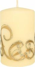 Kup Świeca dekoracyjna, kremowa z aplikacją, 7x10 cm - Artman Christmas Ornament