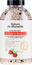 Kup Sól do kąpieli z naturalnymi olejkami i suszonymi owocami o zapachu dzikich poziomek Relaksująca kąpiel - Nature de Marseille
