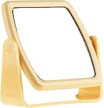 Kup Kwadratowe lusterko kosmetyczne na nóżce 85727, żółte - Top Choice Beauty Collection Mirror
