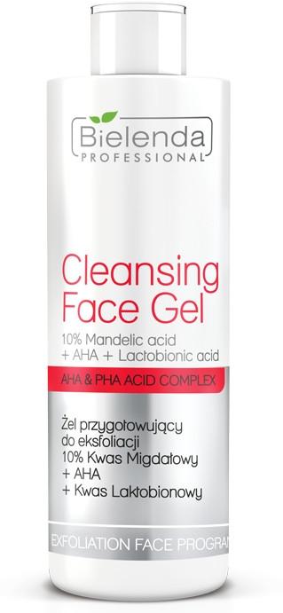 Żel przygotowujący do eksfoliacji 10% kwas migdałowy + AHA + kwas laktobionowy - Bielenda Professional Exfoliation Face Program Cleansing Face Gel — фото N1