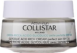 Kup Odżywczy krem z kwasem glikolowym - Collistar Glycolic Acid Rich Cream SPF20