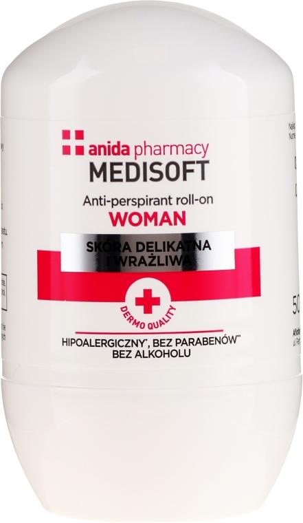 Antyperspirant w kulce - Anida Medisoft Woman
