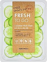 Kup Odświeżająca maseczka na tkaninie do twarzy - Tony Moly Fresh To Go Mask Sheet Cucumber