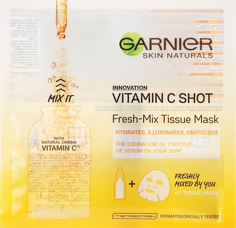 Maska na tkaninie do twarzy z witaminą C - Garnier Skin Naturals Fresh-Mix Tissue Mask With Vitamin C — фото N1