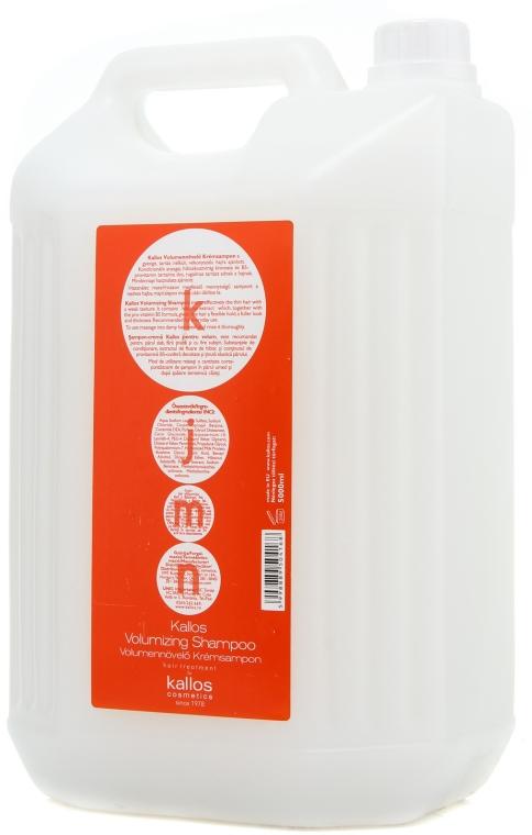 Szampon do włosów cienkich zwiększający objętość - Kallos Cosmetics Volumizing Shampoo — фото N2