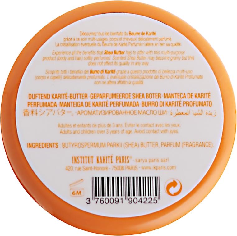 Perfumowane masło shea 98% Migdał i miód - Institut Karité Almond And Honey Scented Shea Butter — фото N6