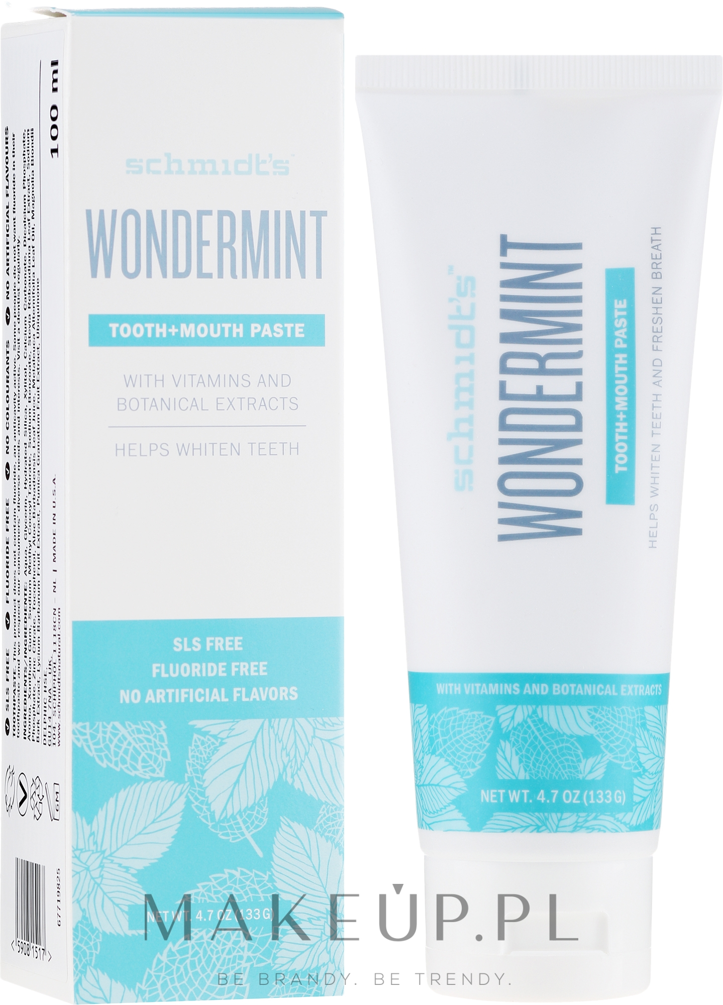 Pasta do zębów - Schmidt's Wondermint Toothpaste — фото 133 g