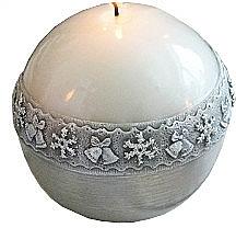 Kup Świeca dekoracyjna, kula, biała 8 cm - Artman Christmas Time