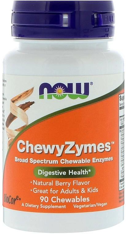 Suplement diety wspomagający układ trawienny - Now Foods ChewyZymes — фото N1