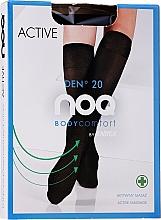 Kup Podkolanówki masujące stopy Active 20 DEN, grafit - Knittex