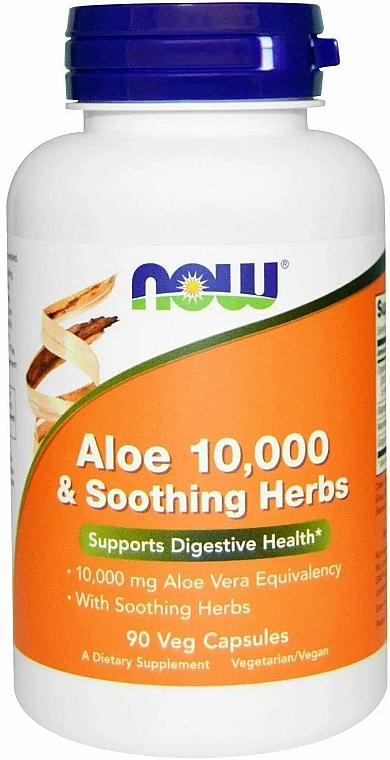 Aloes i kojące zioła w kapsułkach - Now Foods Aloe & Soothing Herbs — фото N1