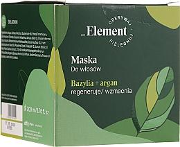 Kup Maska zapobiegająca wypadaniu włosów - _Element Basil Strengthening Anti-Hair Loss Mask