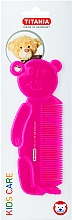 Kup Grzebień do włosów dla dzieci Miś, różowy - Titania