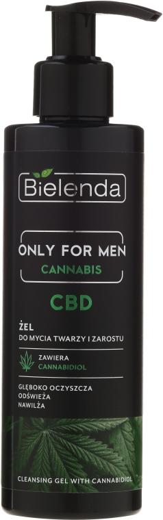 Żel do mycia twarzy i zarostu dla mężczyzn - Bielenda Only For Men Cannabis CBD