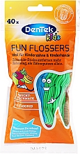 Kup Wykałaczki z nicią dentystyczną dla dzieci - DenTek Kids Fruit Fun Flossers
