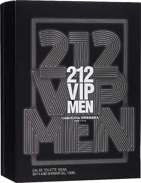 Carolina Herrera 212 VIP Men - Zestaw (edt/100ml + sh/gel/100ml) — фото N1