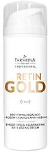Kup Krem wygładzająco-rozświetlający anti-ageing - Farmona Professional Retin Gold Smoothing & Illuminating Anti-Ageing Cream