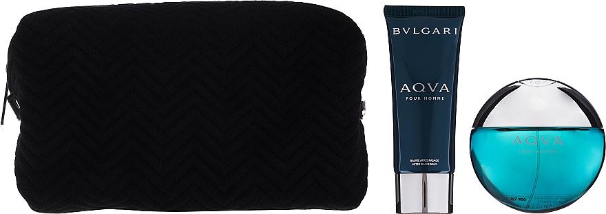 Bvlgari Aqva Pour Homme - Zestaw (edt 100 ml + ash/balm 100 ml + bag) — фото N3