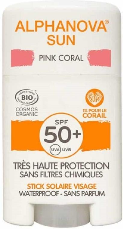 Ochrona przeciwsłoneczna w sztyfcie SPF 50+ w kolorze różowym - Alphanova Sun Pink Coral SPF50+ — фото N1