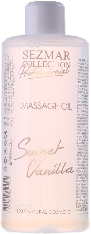 Olejek do masażu Słodka wanilia - Sezmar Collection Professional Massage Oil Sweet Vanilla — фото N1