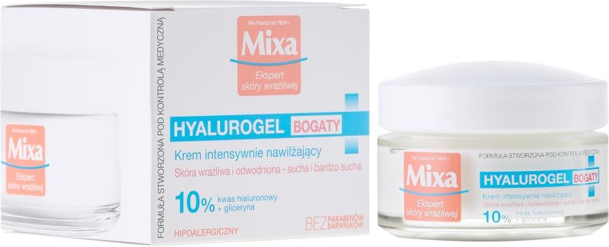 Nawilżający krem do twarzy - Mixa Hyalurogel Moisturizing Face Cream