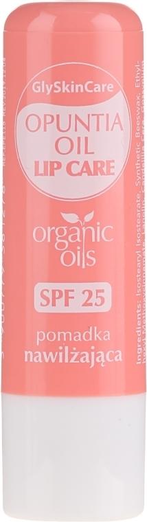 Nawilżający balsam do ust z organicznym olejem z opuncji SPF 25 - GlySkinCare