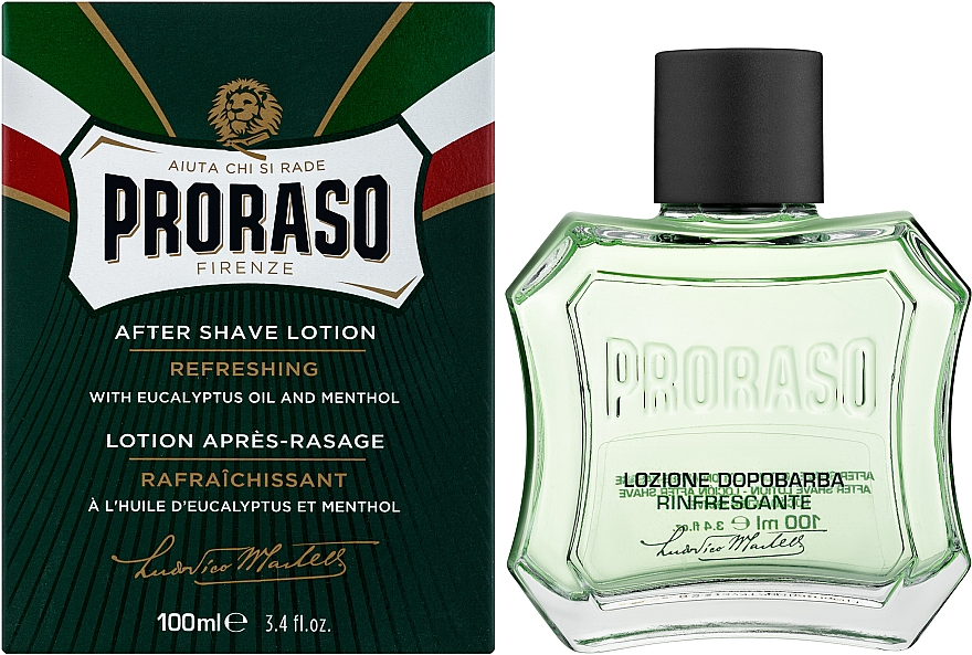 Lotion po goleniu Mentol i eukaliptus - Proraso Green After Shave Lotion — фото N2
