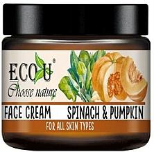 Kup Nawilżający krem do twarzy Szpinak i dynia - Eco U Pumpkins And Spinach Face Cream