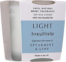 Kup Świeca zapachowa Mięta i limonka - AromaWorks Light Range Spearmint & Lime Candle
