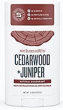 Kup PRZECENA! Naturalny dezodorant w sztyfcie Cedr i jałowiec - Schmidt's Deodorant Cedarwood Juniper *