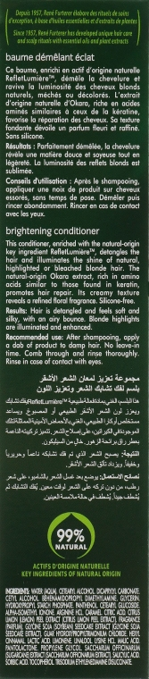 Balsam do naturalnych jasnych i farbowanych włosów - Rene Furterer Okara Blond Brightening Conditioner — фото N3