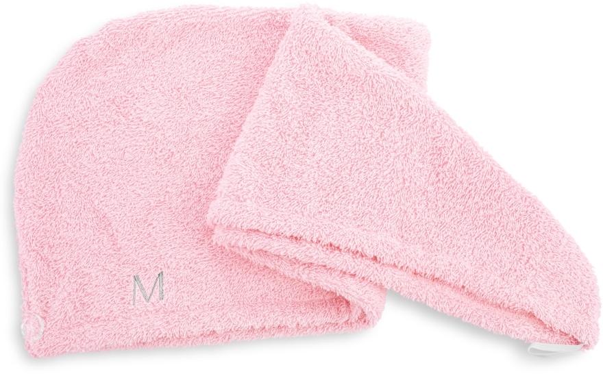 Pudrowo-różowy ręcznik-turban do włosów (68 x 26 cm) - Makeup