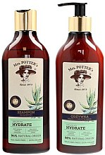 Kup Zestaw nawilżający do włosów przesuszonych - Mrs. Potter's Triple Herb (shm 390 ml + cond 390 ml)