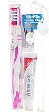 Kup Akcesoria podróżne do higieny jamy ustnej, różowe - White Glo Travel Pack (t/paste/24g + t/brush/1 + t/pick/8)