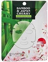 Kup Regenerująca i nawilżająca maska na tkaninie do twarzy - G-synergie Bamboo & Cherry White