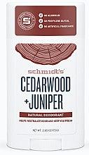 Kup Naturalny dezodorant w sztyfcie Cedr i jałowiec - Schmidt's Deodorant Cedarwood Juniper