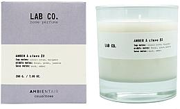 Kup PRZECENA! Świeca zapachowa - Ambientair Lab Co. Amber & Clove *